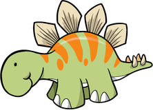 Stegosaurus Dinosaur. Cute Stegosaurus Dinosaur Vector Illustration Royalty Free Stock Images