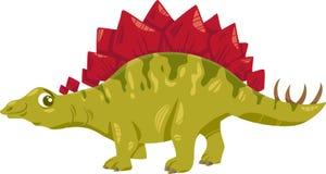 Stegosaurus dinosaur cartoon illustration Royalty Free Stock Images