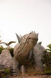 Stegosaurus. Dinosaur (Stegosaurus) in the forest Royalty Free Stock Photo
