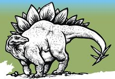 Stegosaurus dinosaur Royalty Free Stock Photography