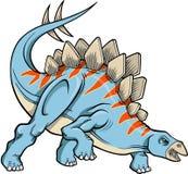 Stegosaurus Dinosaur Vector Stock Image