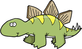 Stegosaurus Dinosaur Vector Royalty Free Stock Images