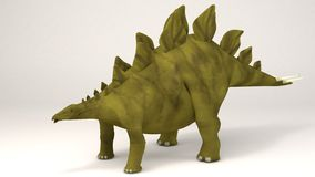 Stegosaurus-dinosaurie royaltyfri illustrationer