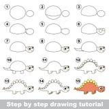 stegosaurus Esercitazione del disegno illustrazione vettoriale