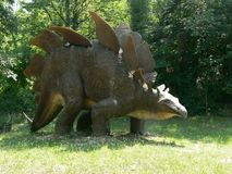 Stegosaurus in the Extinction Park in Italy royalty free stock image