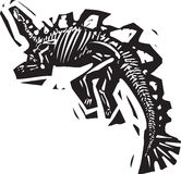 Stegosaurus Fossil Royalty Free Stock Photography