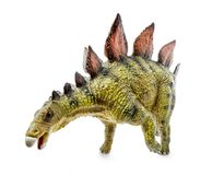 Stegosaurus, genus of armored dinosaur. E view, dinosaurs toy, isolated on white background with clipping path Stock Images
