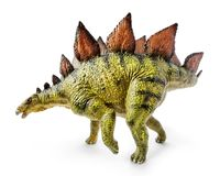 Stegosaurus, genus of armored dinosaur. E view, dinosaurs toy, isolated on white background with clipping path Stock Photo