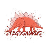 stegosaurus Grande dinosauro rosso royalty illustrazione gratis
