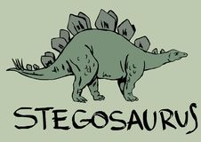 Stegosaurus Royalty Free Stock Images
