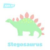Stegosaurus isolated vector illustration. Cute dinosaur in cartoon style Stock Images