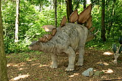 Stegosaurus. Sculpture in live size. (2013 Stock Image