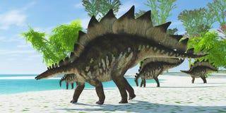 Stegosaurus See Lizenzfreie Stockbilder
