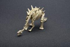 Stegosaurus skeleton on dark background. Stegosaurus skeleton on a dark background Royalty Free Stock Image