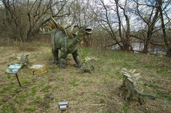 Stegosaurus. In Dinosaur Park, Moscow, Russia Stock Photo