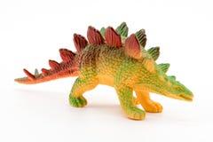 Stegosaurus toy model on white background Stock Image