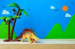 Stegosaurus toy model Royalty Free Stock Photos