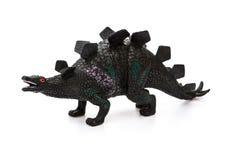 Stegosaurus toy on white Stock Photo