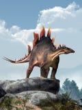 Stegosaurusen på vaggar vektor illustrationer