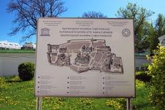 Stehen Sie mit dem Plan des Standorts von St. Sophia Cathedral Stockbild
