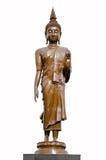 Stehende Buddha-Statue getrennt stockfotografie