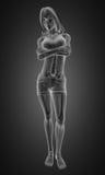 Stehende Frauenröntgenphotographie Lizenzfreies Stockfoto