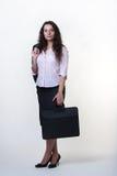 Stehende Geschäftsfrau stockfotografie