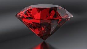 Stehende karminrote Diamanten auf schwarzem Hintergrund Lizenzfreie Stockfotografie