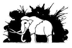 Stehende Mammutgraphik Lizenzfreies Stockfoto