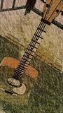 Stehende Portalgitarre des Staus Stockbild