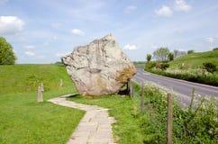 Stehende Steine bei Avebury, England Stockbild