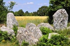 Stehende Steine bei Erdeven in Frankreich Lizenzfreies Stockfoto