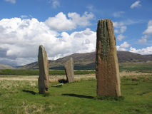Stehende Steine, Insel von Arran Stockfotografie