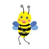 Stehende Zeichentrickfilm-Figur der glücklichen Biene Stockbild