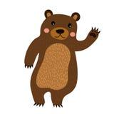 Stehender Bär, der Handzeichentrickfilm-figur züchtet Stockbilder