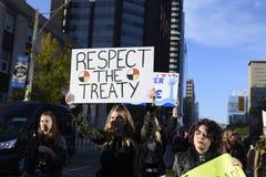 Stehender Felsenprotest in Toronto Stockbild