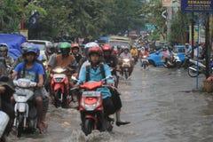 Stehender Gewässer wegen der schlechten Entwässerung Lizenzfreies Stockbild