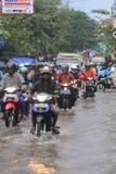 Stehender Gewässer wegen der schlechten Entwässerung Lizenzfreie Stockbilder