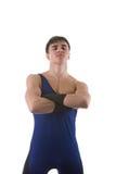 Stehender junger erwachsener Sportler Lizenzfreie Stockfotografie
