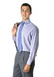 Stehender smilling Geschäftsmann Stockfoto