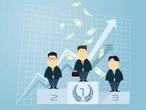 Stehendes Führungsgeschäft des Geschäftsmannes Stockfoto