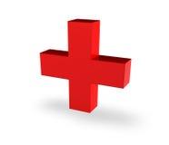 Stehendes rotes Kreuz Stockfotos