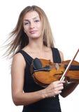 Stehendes Violinenspiel Stockbilder