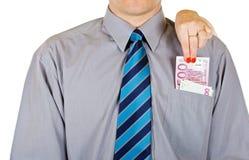 Stehlen Sie vom Geld Lizenzfreies Stockfoto