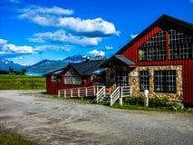 Steigen,一点村庄在北部挪威 免版税库存图片