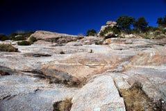 Steigen der Felsen stockfoto