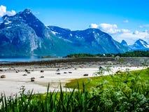 Steigen, little village in north Norway Royalty Free Stock Image