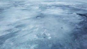 Steigen oben über Polareis im dichten Nebel Endlose Ausdehnungen des Dauerfrostbodens stock footage