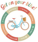 Steigen Sie in Ihr Fahrrad ein Lizenzfreie Stockfotos