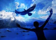 Steigen Sie wie ein Adler an lizenzfreie stockbilder